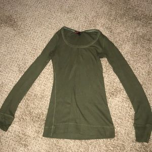Olive Green Thermal Shirt